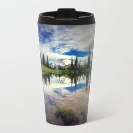 Mountain Reflections Mt Rainier Washington Travel Mug