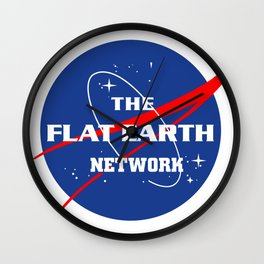 Flat Earth Network Logo Wall Clock