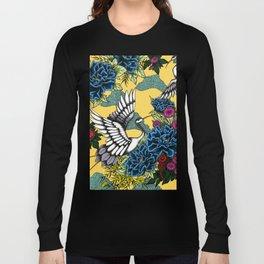 Cranes (Blue) Long Sleeve T-shirt