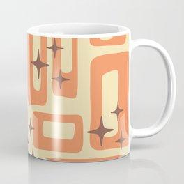 Retro Mid Century Modern Abstract Pattern 577 Orange Brown Coffee Mug