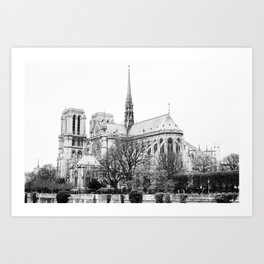 Notre Dame on film Art Print