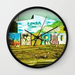 Graffiti in my town. Wall Clock