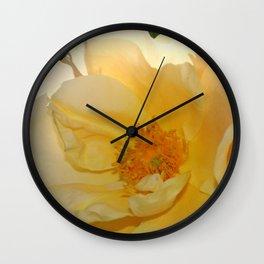 Golden  Rose Wall Clock
