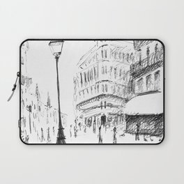 Sketch of a Street in Paris Laptop Sleeve