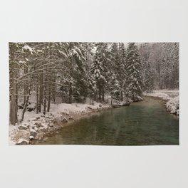 Picturesque Triglavska Bistrica River Rug