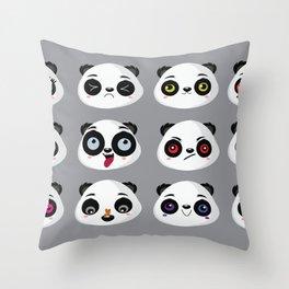 Panda faces Throw Pillow