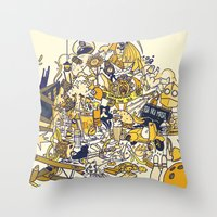 movies Throw Pillows featuring Movies Explosion by zaMp