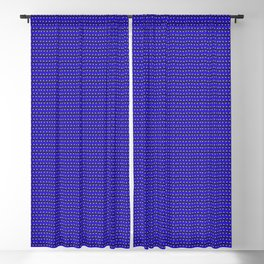 Guitars (Tiny Repeating Pattern on Blue) Blackout Curtain