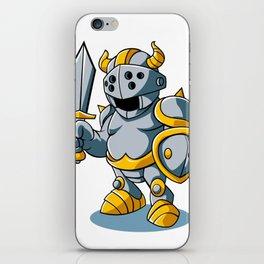 Cartoon knight With Swords Shield Helmet Army Uniform iPhone Skin