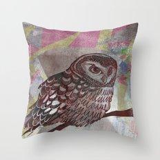Bird Screenprint Throw Pillow