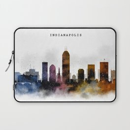 Indianapolis Watercolor Skyline Laptop Sleeve