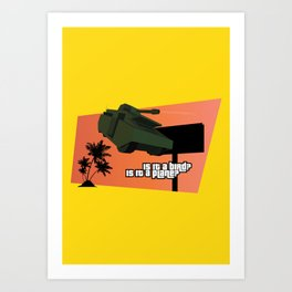 Flying Tank Art Print
