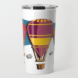 Balloon flight flying in the sky with clouds shirt Travel Mug