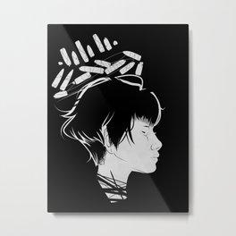Profile Crown (White) Metal Print