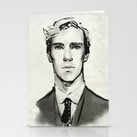 cumberbatch Stationery Cards featuring benedict cumberbatch  by Angela Taratuta