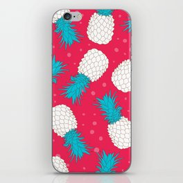 Pineapple color pattern iPhone Skin