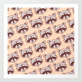 Happy raccoon Art Print