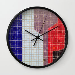 Downtown Fresno / Fulton Mall / Mosaic Bench 04 Wall Clock