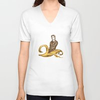 lou reed V-neck T-shirts featuring Banana Lou by Elwood Madison
