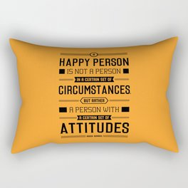 Lab No. 4 A Happy Person Is Not Hugh Downs Motivational Quote Rectangular Pillow