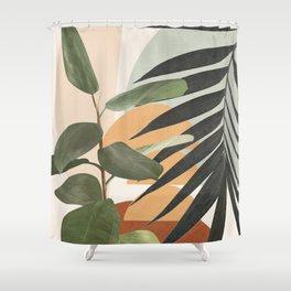 Sunset Flora 03 Shower Curtain