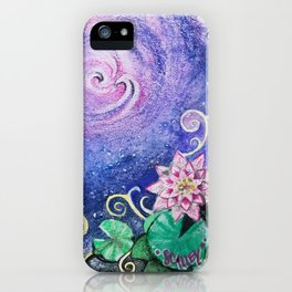 Lily Pads in Space iPhone Case