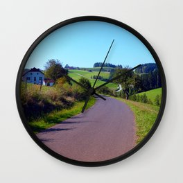 Country road with scenery II   landscape photography Wall Clock