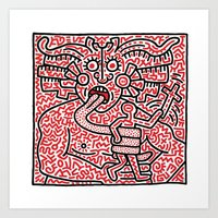 keith haring Art Prints featuring Keith Haring by cvrcak