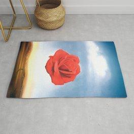Salvador Dali - Meditative Rose - 1958 Restored Artwork for Wall Arts, Prints, Posters, Tshirts, Men, Women, Kids Rug