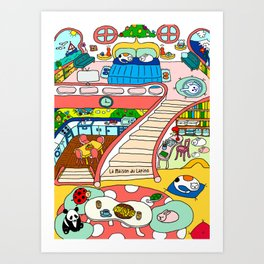 La Maison du Lapino Art Print