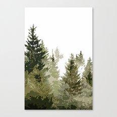 Gros Ventre Smoke Canvas Print
