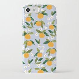 Gouache Oranges Blue iPhone Case