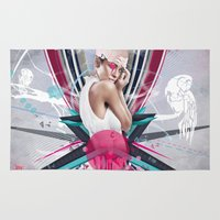 lucy Area & Throw Rugs featuring LUCY by Stéphanie Brusick / Art by shop