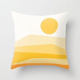 Abstract Landscape 09 Yellow Throw Pillow
