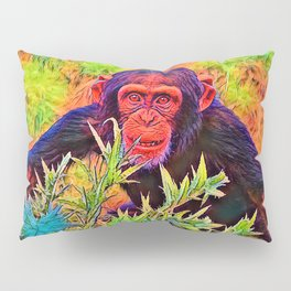 AnimalColor_Chimpanzee_003_by_JAMColors Pillow Sham