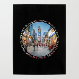 Times Square Sparkle (badge on black) Poster