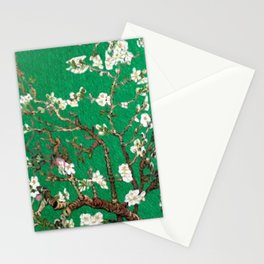 Vincent van Gogh Blossoming Almond Tree (Almond Blossoms) Emerald Sky Stationery Cards