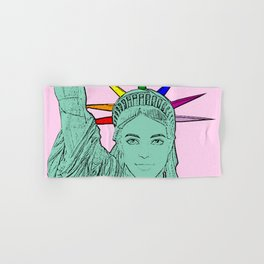 The U.S of Gay! Ken Morphed Into The Statue of Liberty Hand & Bath Towel