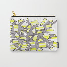 Yellow Fragmentation Carry-All Pouch
