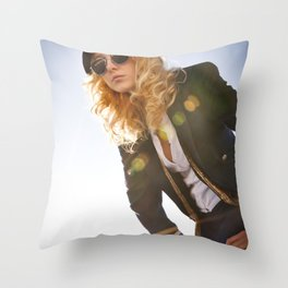 Power Blue Throw Pillow