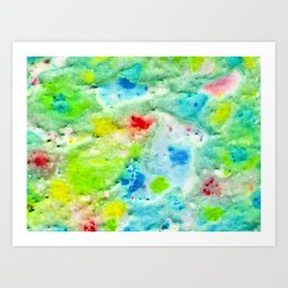 Fire In The Swamp Art Print