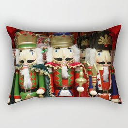 Nutcracker Soldiers Rectangular Pillow