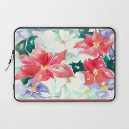 Poinsettia Cheer Laptop Sleeve