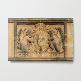 St. Johns College Oxford Coat of Arms in Sandstone Metal Print