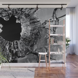 High Contrast Bullet Hole - Kill Your Television Abstract Wall Mural