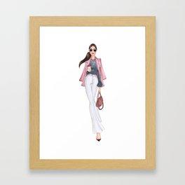 urban chestnut girl Framed Art Print