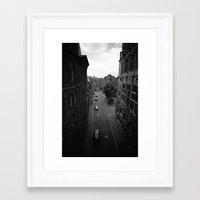 edinburgh Framed Art Prints featuring Edinburgh by Jane Lacey Smith