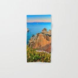 Praia Do Camilo At Sunset. Algarve. Portugal Hand & Bath Towel