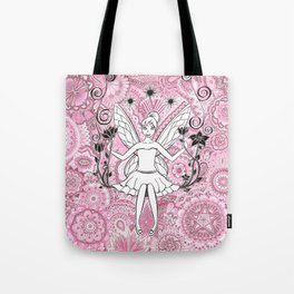 Beautiful fairy on swing Tote Bag