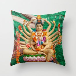 Buddhist Goddess Throw Pillow